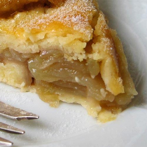 Torta de maçãs verdes italiana www.cozinhadamarcia.com.br