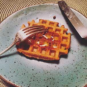 Waffle com farinha integral. Foto Marcia Zoladz