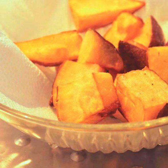 Batata-doce crocante. Foto Marcia Zoladz