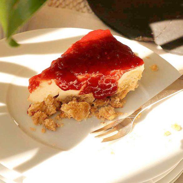 Cheesecake com goiabada. Foto Marcia Zoladz