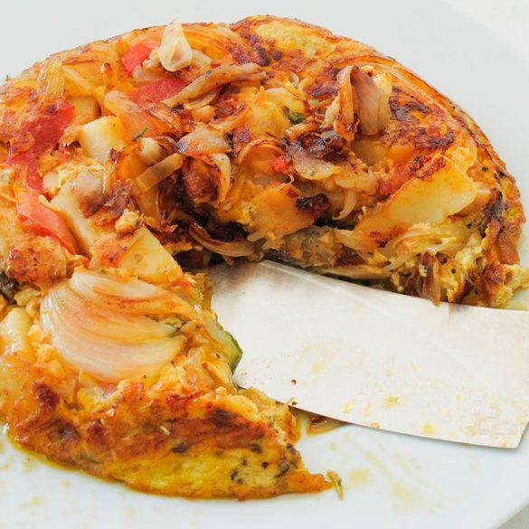 Fritada de batatas – tortillal. Foto: Marcia Zoladz